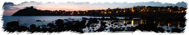 Criccieth Beach Sunset Panorama (2)